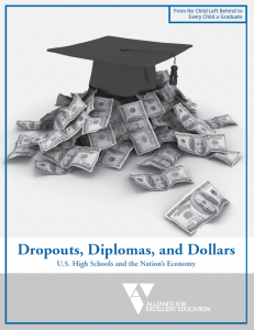 cause and effect on high school dropouts For example, female high school dropouts, compared to high school students and graduates, constitute the highest percentage of mothers (38%) among the population of 16-24 year olds in the us, and many of them depend on assistance.